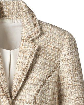 Coldwater Creek Stitched bouclé jacket