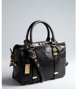 Badgley Mischka black leather 'Brooke' convertible shoulder bag
