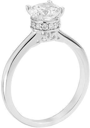 Vera Wang Simply vera diamond solitaire engagement ring in 14k white gold (1 ct. t.w.)
