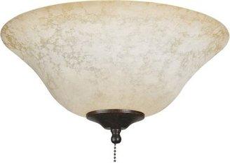 "Fanimation 6"" H x 9"" W Glass Bowl Ceiling Fan Bowl Shade Glass Type: Powdered Amber"