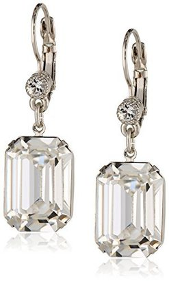"1928 Jewelry ""Bridal Crystal"" Silver-Tone Square Drop Earrings with Swarovski Crystals $38 thestylecure.com"