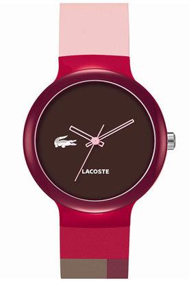 Lacoste 'Goa' Colorblock Silicone Strap Watch, 40mm