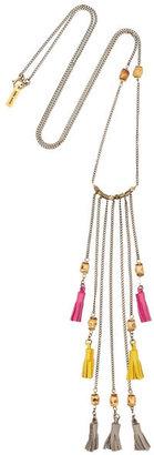 Isabel Marant Tasselled leather necklace