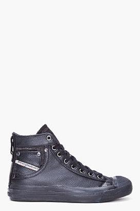 Diesel Black Mid Exposure Sneakers