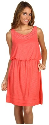 Calvin Klein Jeans Knit Tank Dress (Sunkiss Coral) - Apparel