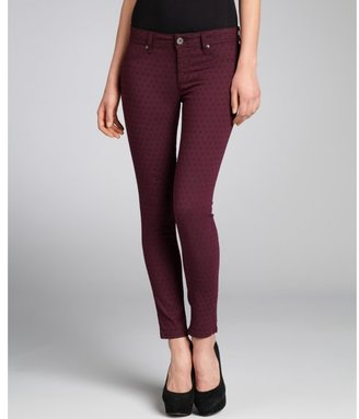 DL1961 Premium Denim purple polka dot print stretch denim 'Emma' legging jeans