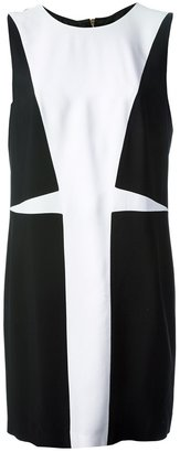Versace sleeveless contrast panel dress