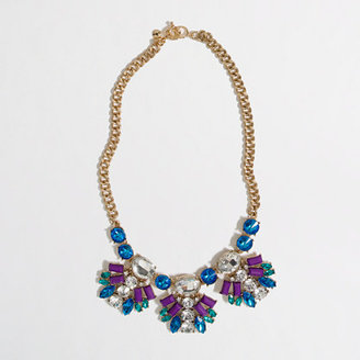 J.Crew Factory Factory neon crystal fan necklace