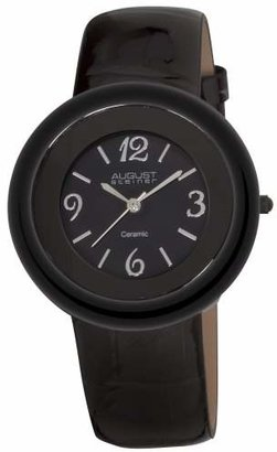 Akribos XXIV Women's AS8028BK Ceramic Case Quartz Strap Watch