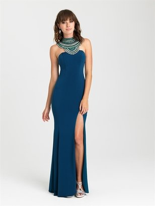 Madison James - 16-436 Dress in Teal $378 thestylecure.com