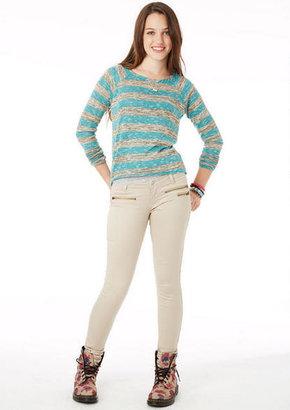 Delia's Olivia Neutral Zipper Low-Rise Jegging in Stone