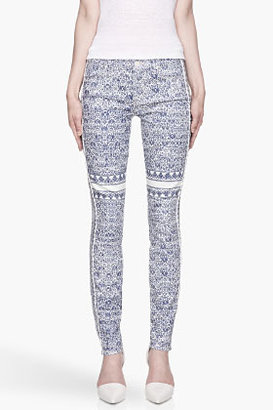 Mother Blue patterned the Looker jeans
