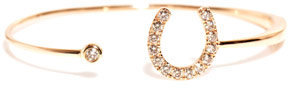 Elise Dray Diamond and gold horseshoe bracelet