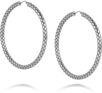Bottega Veneta Intrecciato sterling silver hoop earrings