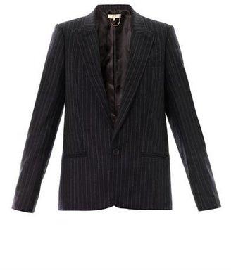 Vanessa Bruno Pinstripe flannel-wool blazer