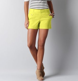 "LOFT Marisa Cotton Twill Shorts with 4"" Inseam"