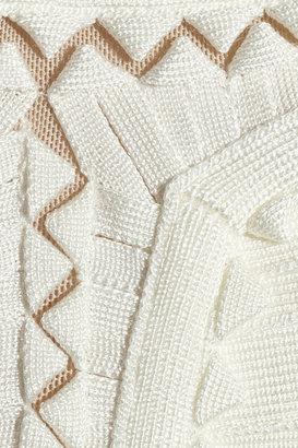Herve Leger Mesh-detailed bandage dress