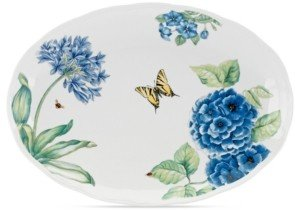 Lenox Dinnerware, Butterfly Meadow Blue Large Oval Platter