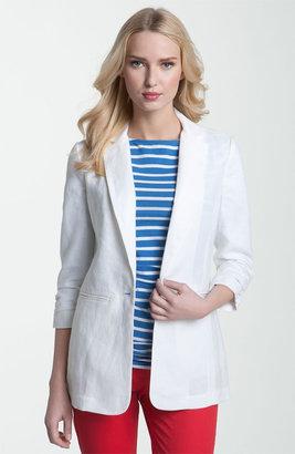 MICHAEL Michael Kors Ruched Sleeve Boyfriend Jacket (Petite)
