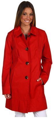 Ivanka Trump Grosgrain Trim Trench B1101 (Lipstick) - Apparel