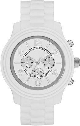 JCPenney FASHION WATCHES Womens Faux Chronograph Boyfriend Watch