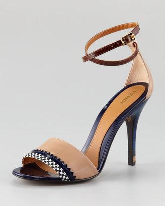 Fendi Persuasion Ankle-Wrap Sandal