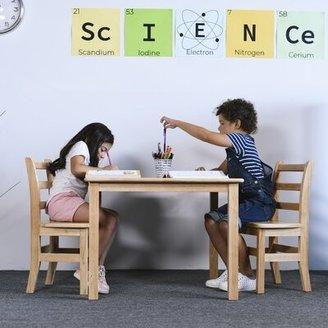 """ECR4kids Kids Writing Table Size: 23"""" H x 24"""" L x 24"""" W"""
