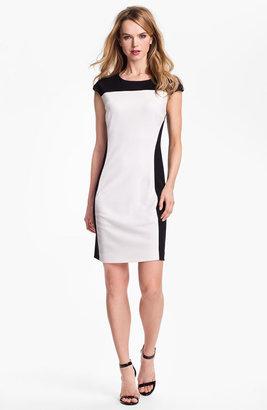 Vince Camuto Colorblock Ponte Sheath Dress
