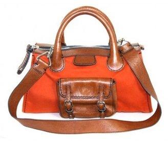 Chloé excellent (EX Orange and Brown Edith Satchel