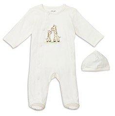 Little Me Unisex Giraffe Friend Footie & Hat Set - Baby