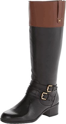 Bandolino Women's Cavendish Wide-Calf Leather Riding Boot $149 thestylecure.com