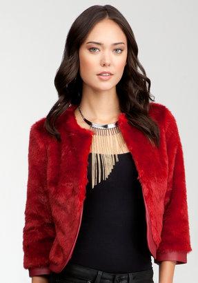 Bebe Serene Faux Fur Jacket