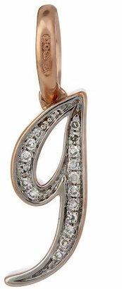 Monica Vinader Rose Gold Vermeil Diamond Alphabet Pendant