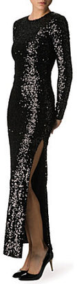 French Connection Ozlem sequinned maxi dress