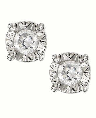 Diamond Stud Earrings in 10k White Gold (1/4 ct. t.w.)