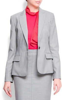 MANGO Relaxed-fit suit blazer
