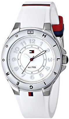 Tommy Hilfiger Women's 1781271 Stainless Steel Watch with White Silicone Band $110 thestylecure.com