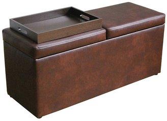 Sonoma life + style ® warner wine storage bench ottoman