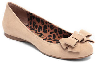 Jessica Simpson Suede Bow Flats