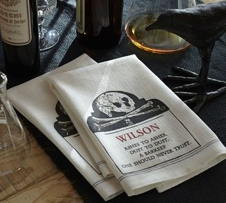 Pottery Barn Crossbones Bar Towel, Set of 2
