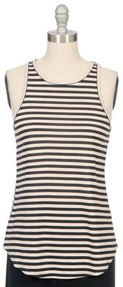 THE LADY & THE SAILOR Bare High Neck Striped Tank