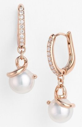 Mikimoto Akyoka Cultured Pearl & Diamond Earrings