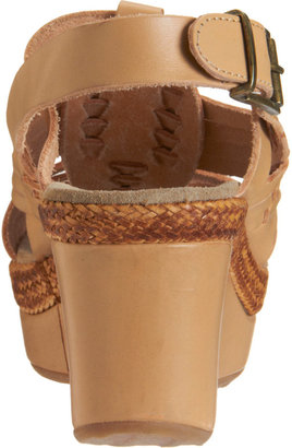 Barneys New York Woven Wedge Sandal