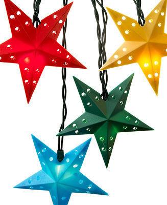 Kurt Adler Indoor/Outdoor String Lights, Multi-Colored Stars
