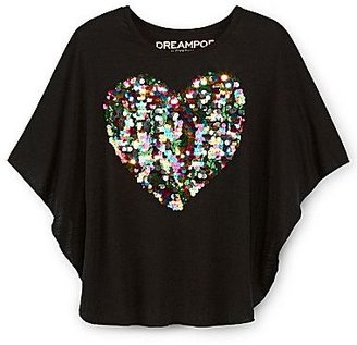 JCPenney Dreampop® by Cynthia Rowley Sequin Dolman Top - Girls 7-16