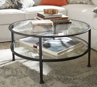 "Pottery Barn Tanner 36"" Round Coffee Table"