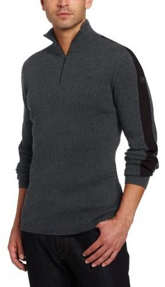 Calvin Klein Jeans Men's Ribbed Long-Sleeve Half-Zip Sweater