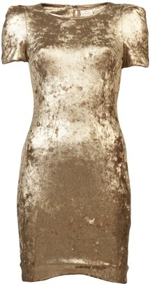 Torn By Ronny Kobo Metallic shift dress