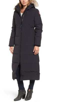 Women's Canada Goose 'Mystique' Regular Fit Down Parka With Genuine Coyote Fur Trim $995 thestylecure.com