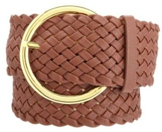 Charlotte Russe Wide Braided Faux Leather Belt
